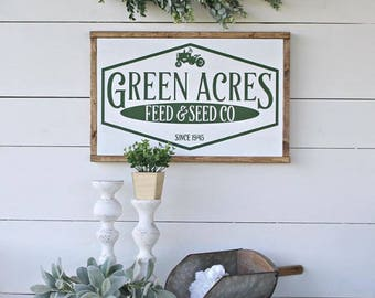 Green Acres Feed & Seed SVG - Digital download for cutting machines