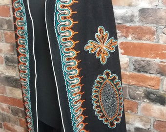 1970s Vintage Black  Embroidered Jacket Size 10 / Medium Jacket