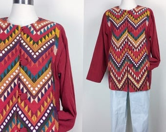 vintage embroidered jacket women's size S/M