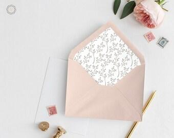 Envelope Liners, Printable Liner, Pink Envelope Liner, Floral Envelope Liner, Envelope Liner, A7 Envelope Liner, Instant Download, #ITP
