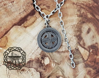 Sheild knot Pendant Sterling Silver Necklace Celtic Pendant Celtic Knot Celtic Jewelry Celtic Shield