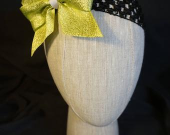 Lime Green Bow Elastic Headband; Baby; Infant