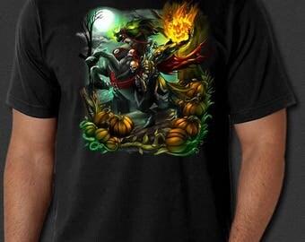 Sleepy Hollow Headless Horseman Halloween Horror New T-Shirt S-6XL