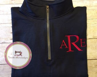 Monogrammed pullover, personalized quarter zip sweatshirt,christmas gift, birthday gift women, plus size, gift for mom, gift under 30