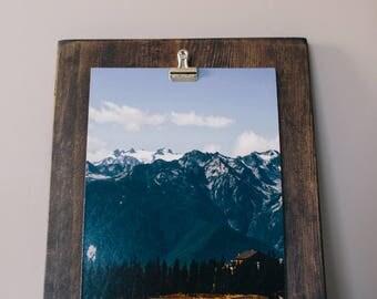 Photo Clip Board - Picture Frame - Rustic Photo Frame - Wood Display - Wood Picture Frame - Photo Display - Farmhouse Decor - Art Display