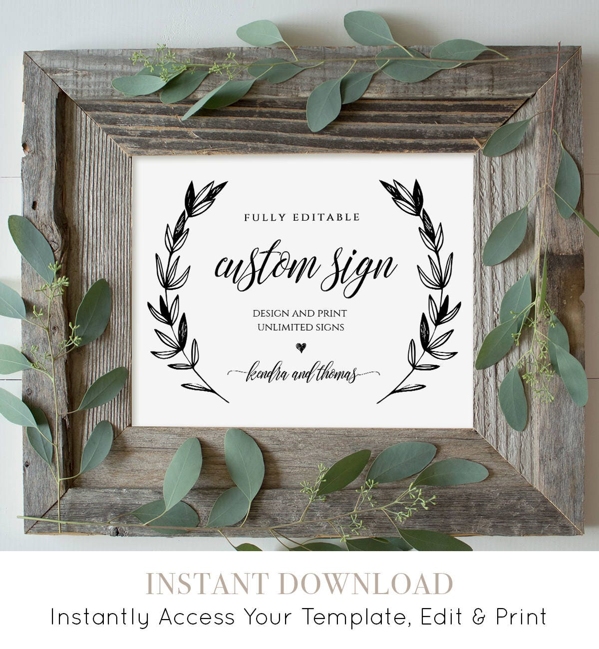 It's just a photo of Unforgettable Free Printable Custom Signs