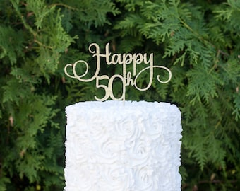 50th birthday party,50th birthday cake topper, fiftieth birthday decorations, happy 50th birthday ,fifty cake topper, 50th birthday decor