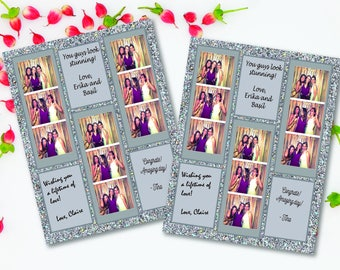 Photo Booth Guest Book in Silver Glitter (8.5 inch x 11 inch) - INSTANT DOWNLOAD, Digital