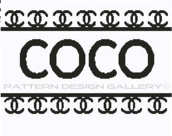 COCO Graphgan Afghan Crochet Pattern Perfume Crochet Graph Pattern Cross Stitch PDF Instant Download