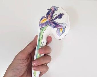 Infant rattle - Iris flower | baby rattle, infant toy, rattles, cloth rattle, flower, handmade rattle
