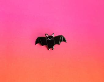 Little Bat Enamel Lapel Pin | cute spooky pin hat badge