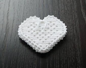 Crochet cotton coasters set