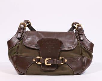 PRADA - Leather and nylon bag