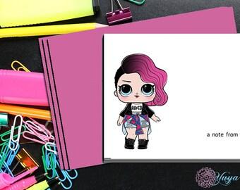 LOL Surprise Doll Rocker Notes / Girl Stationery /LOL Girl Stationery Set / Set of 12