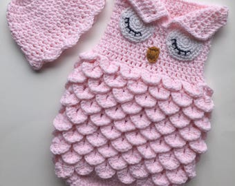 Newborn Owl Cocoon