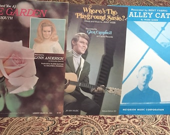 Sheet Music from the 1960's