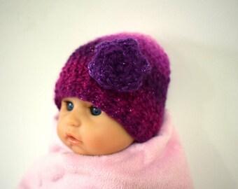 Baby flower crochet hat premie ,newborn baby children  colours baby gift photo prop novelty hat warm winter hat glitter sparkle acessory