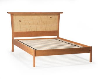 platform bed frame king size queen wood bed headboard full twin
