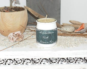 Vanilla- container candle- scented soy candle- gift for mom- custom message-  woman gift- home fragrance- candle gift