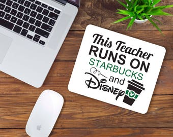 Starbucks and Disney Teacher Mouse Pad
