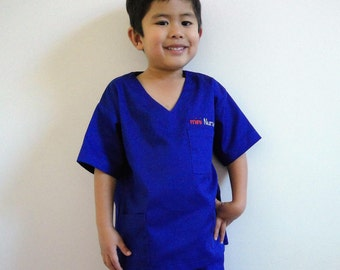 Mini Nurse Doctor Medical Scrub Uniform Set