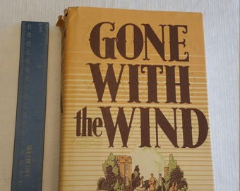 gone with the wind novel by margaret mitchell - hc dj antique book 1964 - classic story macmillan publishing - civil war scarlet ohara