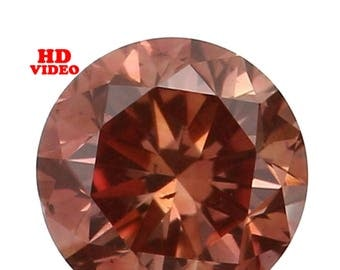 2.80 MM 0.09 Ct Natural Loose Diamond Cut Round Shape Orange Color SI1 Clarity N4781