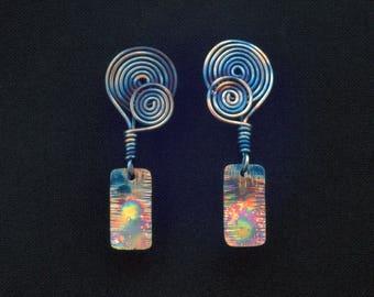 Ethnic Earrings Titanium Earrings Drop Earrings Art Deco Earrings Birthday Present Anniversary for her Hippie Earrings Gypsy Jewelry Boho