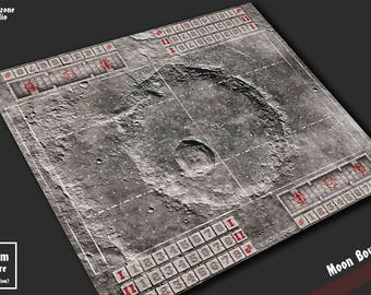 Battle mat: Moon Bowl - Blood Bowl game board, table map scenery for fantasy football boardgame terrain