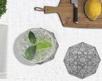 Diamond Coasters - set of 4