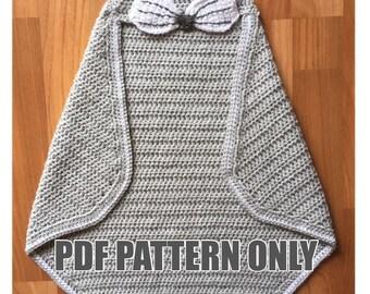 Rabbit Hooded Wrap Blanket Crochet Pattern