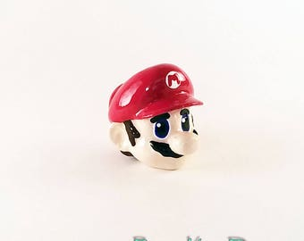 Mario Drawer Pull Super Mario Decor Dresser Pull Knob Nintendo Geeky Decor Video Game Home Decor Mario Drawer Knobs Drawer Pull