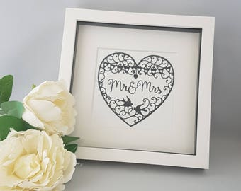 mr mrs frame wedding gift wedding decor gift for a wedding - Mr And Mrs Frame