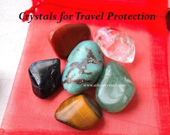 Stones for Protection Crystals for Travel Protection, Travel Gifts, Crystals for Safe Car Travel, Wanderlust,  For Flying and Adventure :)