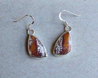 Gemstone Earrings, Sterling Silver Earrings