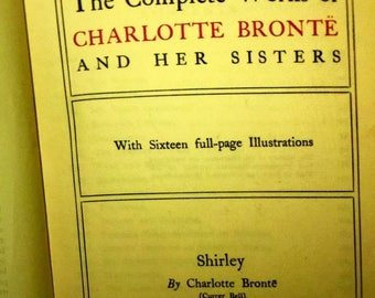Antique 'Shirley' By Charlotte Bronte - 1900