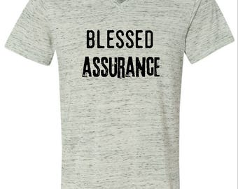 Blessed Assurance, Christian Shirts, Blessed Shirts Woman, Faith Shirts Woman, Hymnal Shirt, Hymn Tshirts, Inspirational Tshirts, Bible Gift