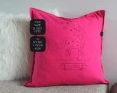 Custom Unicorn pillow wit...