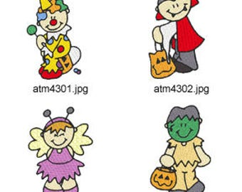 Halloween-Kids-2 ( 7 Machine Embroidery Designs from ATW ) XYZ17H