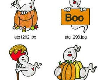 Halloween-Ghosts 2 ( 8 Machine Embroidery Designs from ATW ) XYZ17I