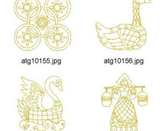 12-Days-of-Christmas-Ornamental-Redwork ( 12 Machine Embroidery Designs from ATW ) XYZ17K