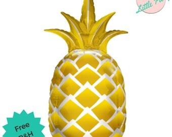 Pineapple Balloon Party Helium Foil Tropical Fruit Flamingle Luau Party!