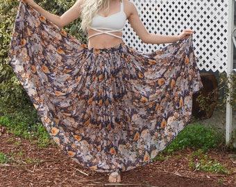 Maxi Gathered Skirt