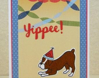 Boxer Birthday Card, Boxer Happy Birthday, Boxer Card, Dog Birthday Card, Dog Card