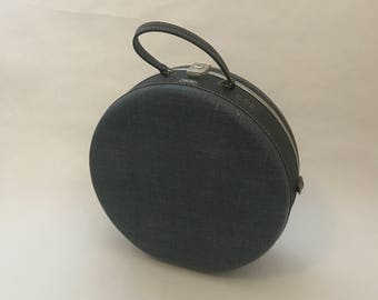 Vintage Round Blue American Tourister Luggage
