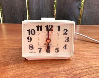 Vintage Alarm Clock, Westclox, Vintage Westclox Clocks, Retro Westclox Electric Alarm Clock, Bedroom Alarm Clock, Vintage Decor, Clocks
