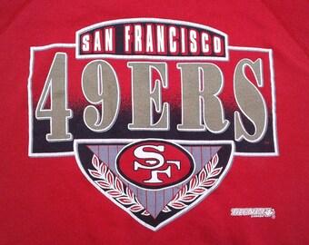 Vintage 90's San Francisco 49ers red crewneck sweatshirt XL