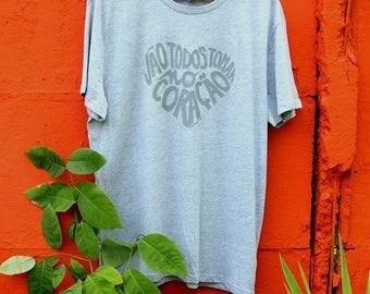 t-shirt man round neck Heather gray, calligram