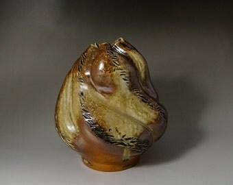 Anagama Vase, 4 days fired Vase, Flower Vase, Stoneware Vase, Wheelthrown Vase, Handmade Vase, Ceramic Vase, Pottery Vase
