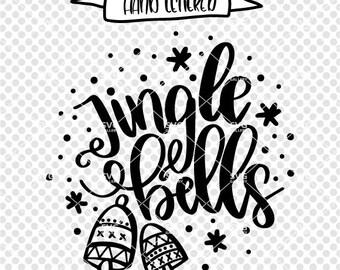 Jingle bells SVG, Christmas SVG, Digital cut file, holiday svg, jingle all the way svg, bell svg, jingle, jingle bell svg, commercial use